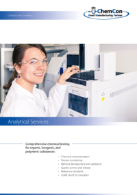 ChemCon Company Brochure Analytical Services